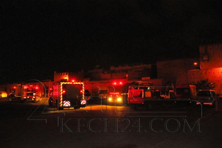 حريق مهول في منزل بالمدينة العتيقة لمراكش يخلف خسائر فادحة + صور