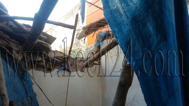 أسرة تنجو من الموت بأعجوبة بعد انهيار منزل بالمدينة العتيقة لمراكش + صور