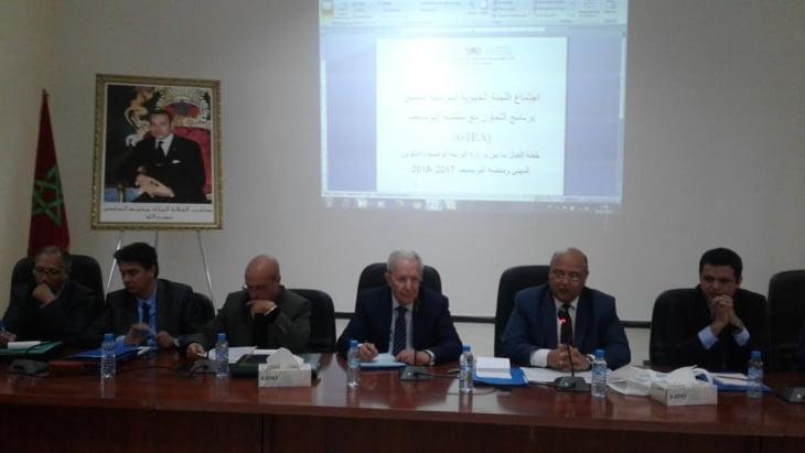 اكاديمية مراكش تحتضن اجتماع اللجنة الجهوية لتنسيق برنامج التعاون مع منظمة اليونيسيف.