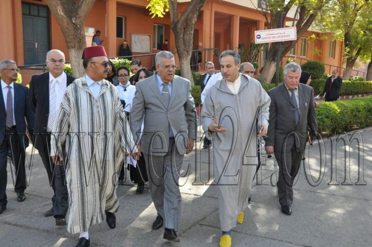 والي جهة مراكش آسفي عبد الفتاح لبجيوي يتفقد مستشفى إبن زهر + صور