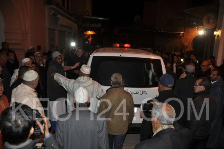 وصول جثمان الراحل بوستة إلى بيته بمراكش + صور