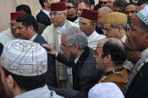 جنازة مهيبة تشيع جثمان الراحل محمد بوستة الى مثواه الاخير بحضور ولي العهد والامير مولاي رشيد + صور