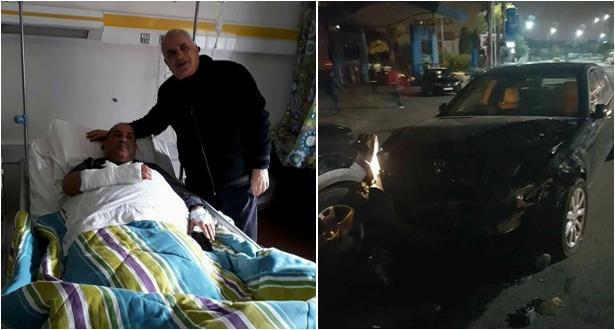 رئيس الرجاء البيضاوي حسبان يتعرض لحادثة سير + صور