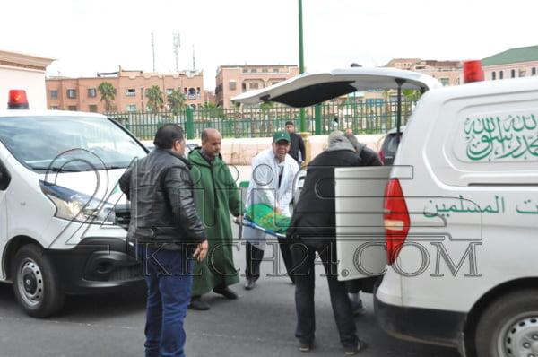 بالصور: وصول جثامين ضحايا فاجعة سيدي يوسف بمراكش لمسجد الخير قبل تشييع جنازتهم