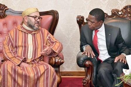 الملك محمد السادس يوجه الدعوة لرئيـس زامبيا للقيام بزيارة رسمية للمغرب