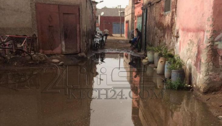 مياه الأمطار تعمق معاناة حرفيين بالمدينة العتيقة لمراكش + صورة