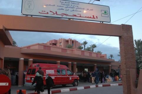 اعتقال زوج سيدة توفيت بمستشفى إبن طفيل بمراكش بعد تعرضها لاعتداء جسدي