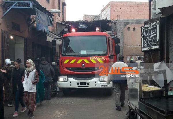 شارجور يتسبب في اندلاع حريق بمنزل بالمدينة العتيقة لمراكش + صور