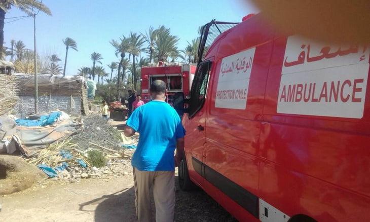 عاجل: اندلاع حريق بدوار عزيب خليفة بريك بمراكش + صور