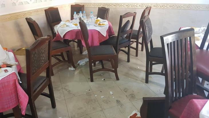 التحقيق في دوافع وخلفيات محاولة تفجير مطعم بالعرائش + صور