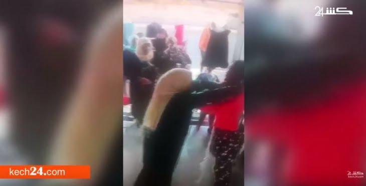 سيدتان تهاجمان محلا لبيع الملابس بمراكش وتنهالان ضربا على مستخدمة به