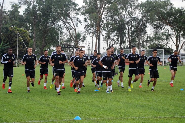 بالصور: حصة تدريبية للأسود في الكوديفوار بحضور جميع اللاعبين