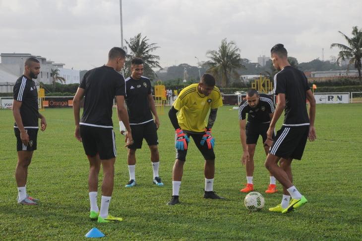 معنويات عالية في صفوف عناصر المنتخب الوطني قبيل مباراة المغرب وكوت ديفوار + صور