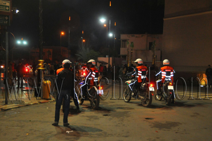 حملة أمنية بمحيط ساحة جامع الفنا تطيح بمبحوث عنهم في يد أمن مراكش
