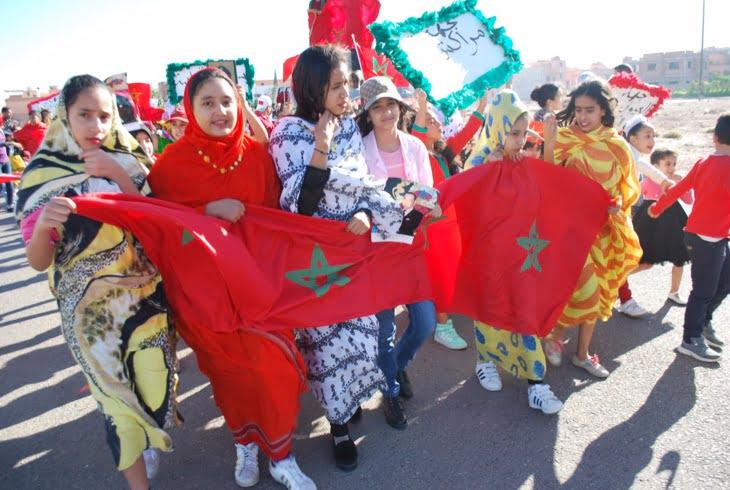 بالفيديو: مؤسسة النصر للتعليم الخصوصي بمراكش تخلّد ذكرى المسيرة الخضراء
