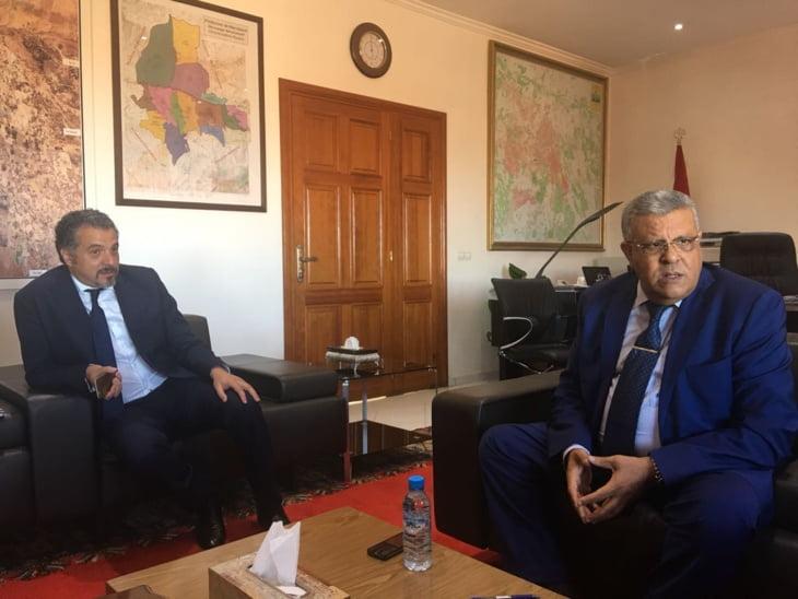 والي جهة مراكش آسفي عبد الفتاح لبجيوي يستقبل رئيس المركز الجهوي للسياحة
