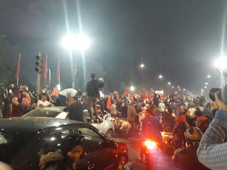 مباراة المنتخب المغربي تخنق شوارع مراكش وسط استنفار أمني