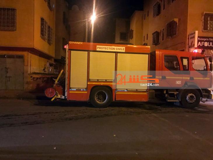اندلاع حريق في منزل بحي المسيرة بمراكش + صورة