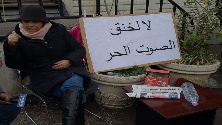 مديرة صحيفة (الفجر) الجزائرية في حالة