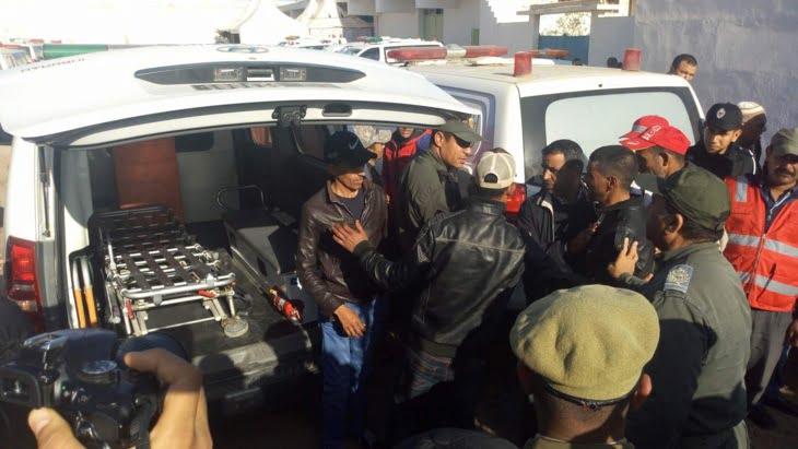تسليم جثت ضحايا فاجعة الصويرة بحضور والي جهة مراكش + صور