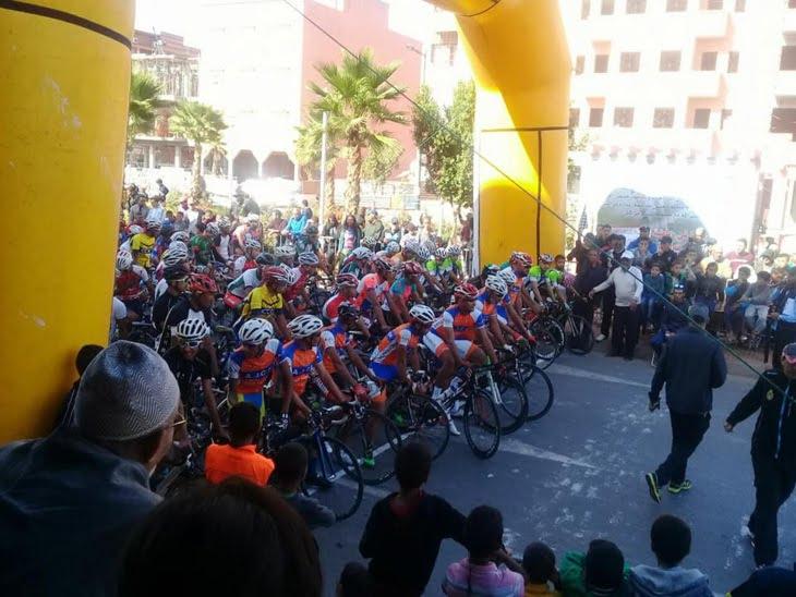 تنظيم سباق وطني للدراجات الهوائية بمراكش + صور