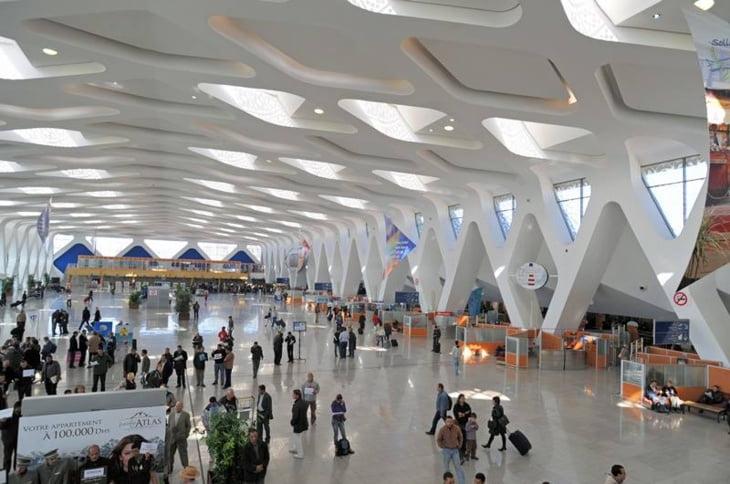 ارتفاع حركة المسافرين على مستوى مطار مراكش المنارة