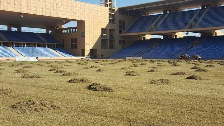 الملعب الكبير بمراكش يخضع لعملية اصلاح استعدادا لـ