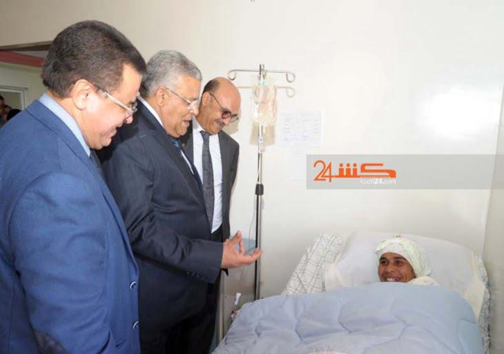 الوالي لبجيوي يزور المصابتين في فاجعة الصويرة بالمستشفى الجامعي بمراكش + صور