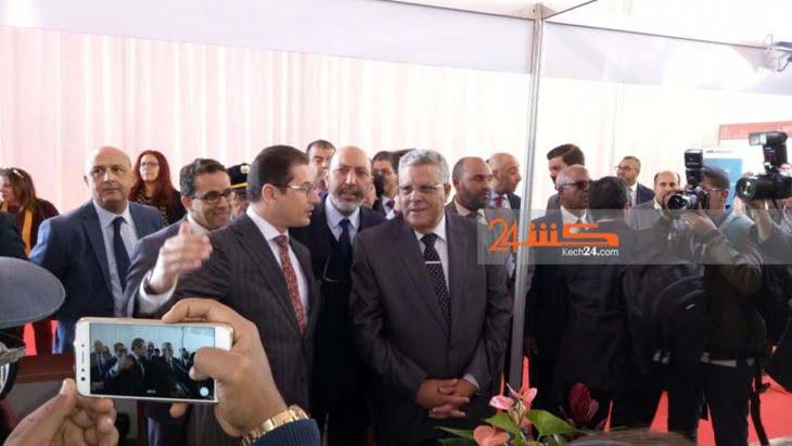 تكريم والي الجهة ومدير الوكالة الحضرية على هامش إفتتاح معرض العقار بمراكش