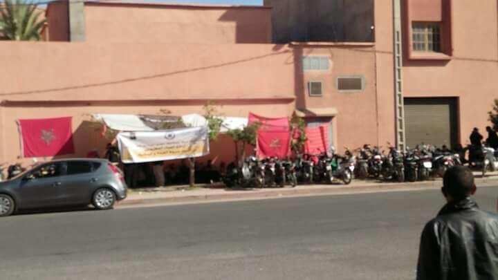 وقفة إحتجاجية بمراكش بسبب تجريد عمال شركة من حقوقهم المكتسبة