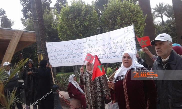 العشوائية والتهميش يخرجان قاطني حي ازيكي بمراكش للاحتجاج + صور