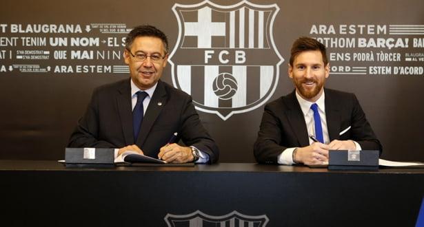 برشلونة يجدد عقد نجمه ميسي إلى غاية 2021