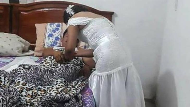 واقعة غريبة.. عروس تترك حفل زفافها بفستان الزفاف