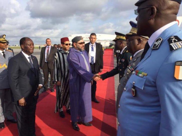 وصول الملك إلى ساحل العاج للمشاركة في أشغال القمة الخامسة الاتحاد الإفريقي والأوروبي + صور