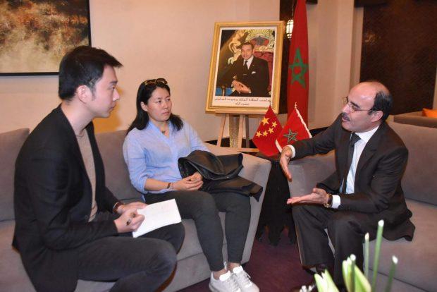 إلياس العماري يلتقي رئيسة الشبكة الصينية للتجارة والبناء بمراكش