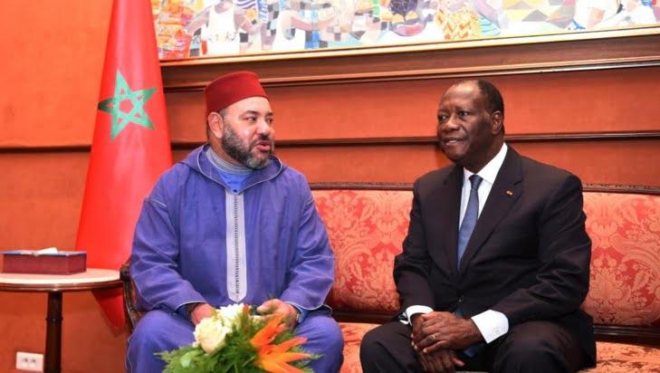 الملك محمد السادس يجري مباحثات على انفراد مع رئيس الكوديفوار