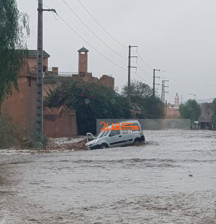 فيديو: جماعة بن رحمون غارقة بسبب سيول الأمطار