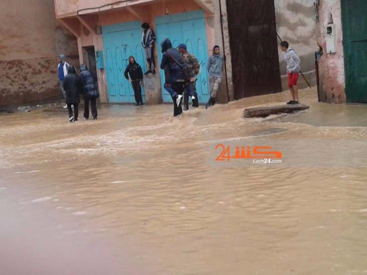 بالصور: ثلاث ساعات من الأمطار تُغرق سيد الزوين بمراكش تحت سيول المياه الجارفة