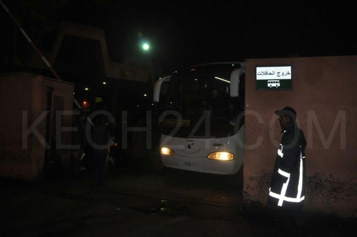 عاجل.. ضحايا حافلة تامنصورت المنكوبة يغادرون مراكش + صورة
