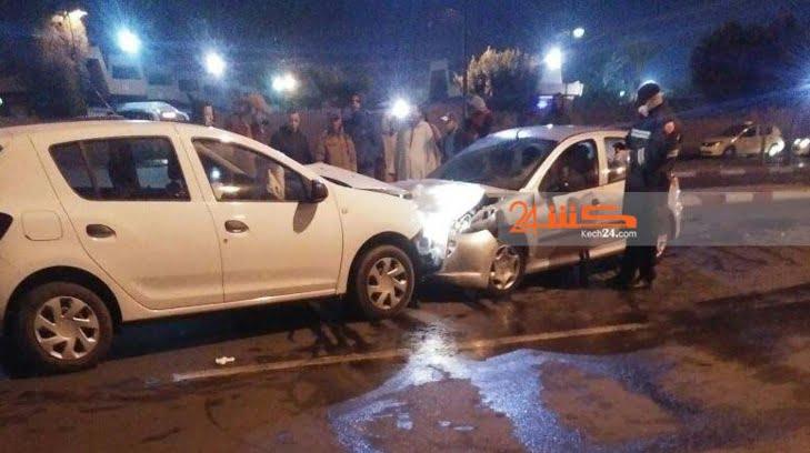 حادثة سير خطيرة تخلف خسائر جسيمة بمراكش
