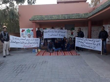 تعرض المركز الصحي لسيدي المختار نواحي شيشاوة للسكتة القلبية يخرج الساكنة للإحتجاج