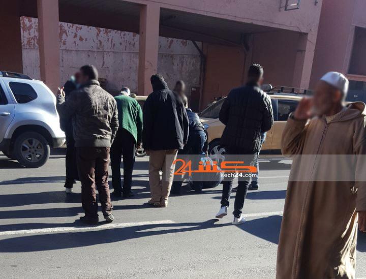 عاجل: سائق سيارة يصدم شخصا ويلوذ بالفرار بمراكش + صورة