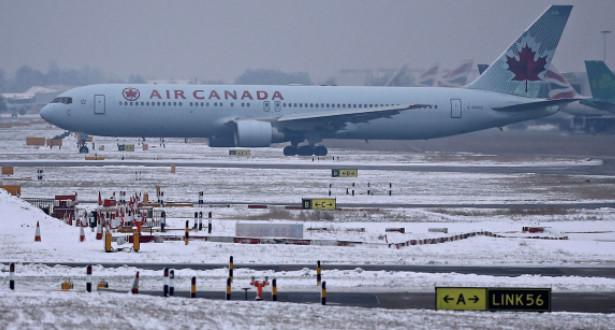 اضطراب حركة الطيران في مطارات كندا بسبب موجة الصقيع
