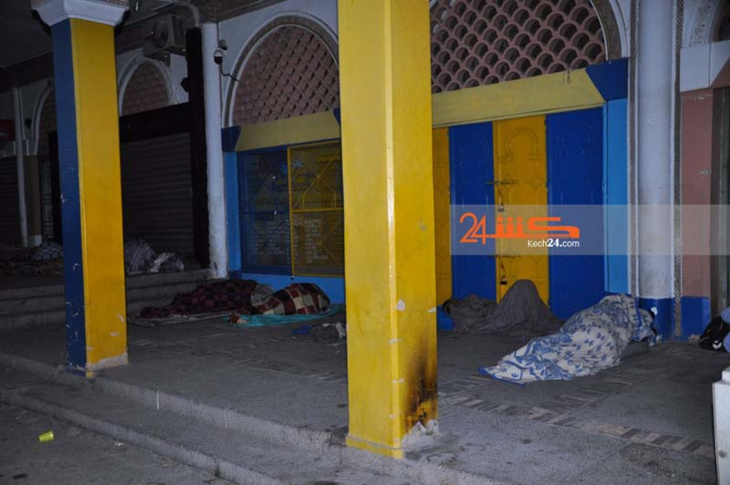 في عهد إدماج المهاجرين.. العشرات من الأفارقة يبيتون في العراء بمراكش + صور صادمة