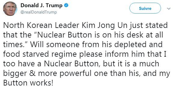ترامب يرد على كيم جونغ على طريقة بنكيران : ديالي كبر من ديالك