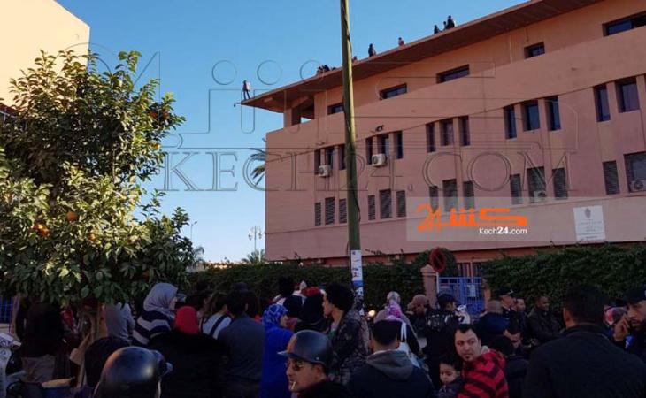 شرطي يهدد بالانتحار من فوق مقر ولاية امن مراكش