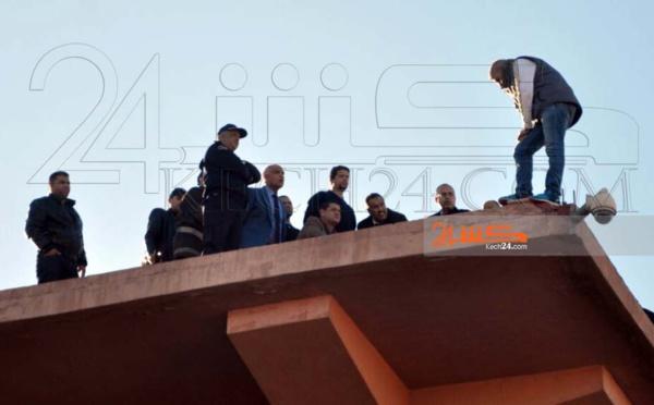 لحظات مرعبة.. التهديد بالإنتحار في مراكش يحبس الأنفاس ويكشف عن ضعف إمكانيات الانقاذ