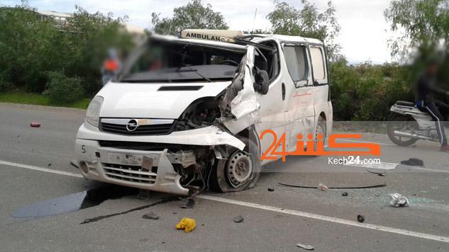 سائق سيارة إسعاف لوداية التي انقلبت بمراكش يفارق الحياة + صورة