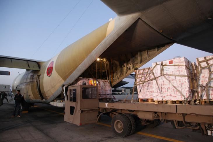 بتعليمات ملكية وصول المساعدة الإنسانية العاجلة المرسلة إلى مدغشقر