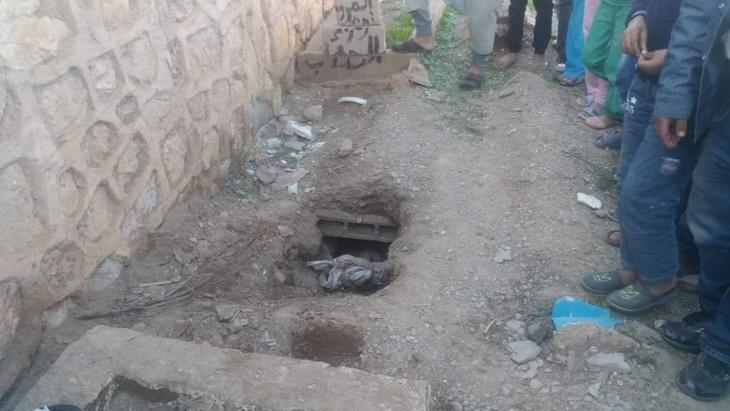 خطير: مجهولون يسطون على عظام جثة آدمية ضواحي مراكش + صور